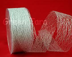 mesh ribbon whole green metallic poly deco mesh ribbon spools