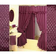 hg station diamond pattern fabric double swag shower curtain set