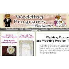 printable wedding programs save money with free printable wedding programs three online sources