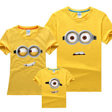 minions family t shirts despicable me fashion matching clothes
