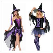 Jasmine Halloween Costume Adults Gothic Witch Halloween Costume Dress Hat Sorceress Costume