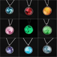 glow in the necklaces women moon rising moon pendant necklace glow in the