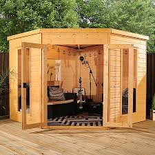 Garden Summer Houses Corner - amusing 25 corner garden sheds 8x8 decorating inspiration of best