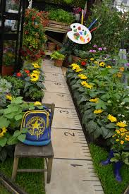 Ideas For School Gardens Ruler Footpath Lined With Sunflowers Ideal For Garden Or A