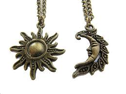 wholesale bronze sun and moon necklaces moon and sun jewellery