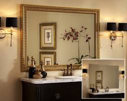 bathroom mirror ideas powder room contemporary with faux finish