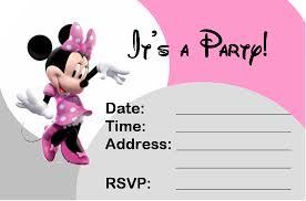 minnie mouse invitation template cyberuse