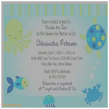 the sea baby shower invitations baby shower invitation lovely the sea baby shower