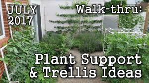 trellis plant support ideas 2017 july urban garden edible