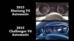 2010 ford mustang v6 0 60 2015 mustang v6 vs 2015 challenger v6 0 60 acceleration base