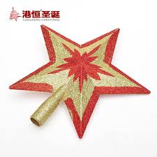 new 15 20cm gold top tree top decoration