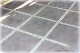 faux tile painted concrete floor hometalk