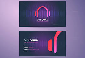 dj business card templates free download creativetemplate