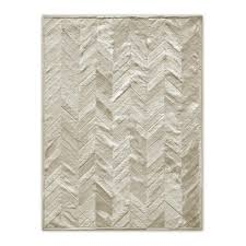natural area rugs com natural stitch parquet natural 8 ft x 10 ft cowhide area rug