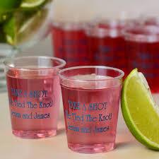 clear plastic cups for wedding plastic cups 2 oz personalized my wedding reception ideas