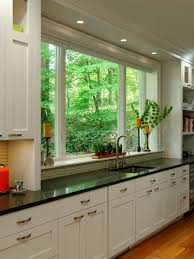 window treatment ideas for bay windows in kitchen design