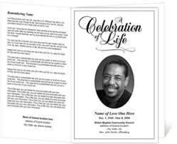 Funeral Programs Samples Sample Memorial Program Template Funeral Program Template Funeral