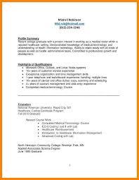 medical coder resume cover letter