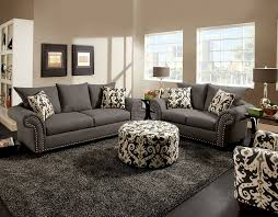 Velvet Sofa Set Classic Velvet Sofa Nailhead Trim Accent Living Room Gray With 53