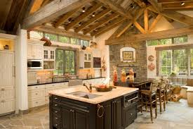 Rustic Cottage Kitchens - cabin kitchen ideas fpudining