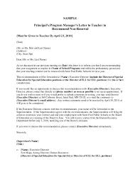 example of recommendation letter gallery letter samples format