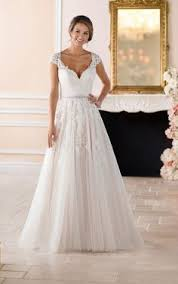 cap sleeve wedding dress cap sleeve wedding dress with cameo back stella york