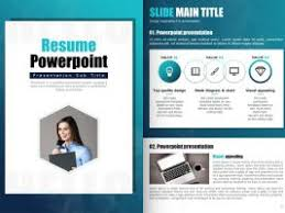 Resume Powerpoint Template Miscellaneous Goodpello