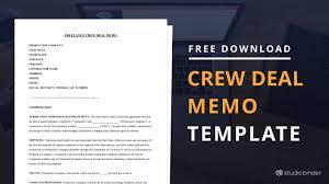 Memo Template Free Free Crew Deal Memo Template