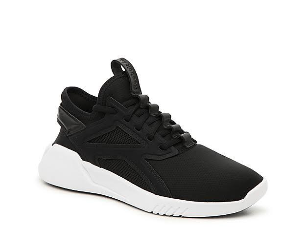 Reebok Freestyle Motion Lo Black/Black/White Dance Shoes