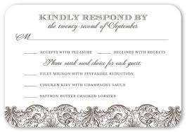 Wedding Invitations And Response Cards Classic Damask Border Rsvp Cards Wedding Invitations Shutterfly