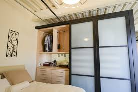 this two sided room divider by closet factory and sliding door