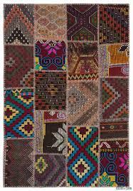 k0015157 multicolor kilim patchwork rug kilim rugs overdyed