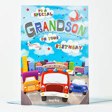 giant birthday card grandson cars only 99p