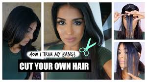 how to cut your own hair bangs youtube