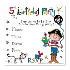 Sample Of Birthday Invitation Card For Kids Card Invitation Ideas Adorable 5th Birthday Invitation Cards For