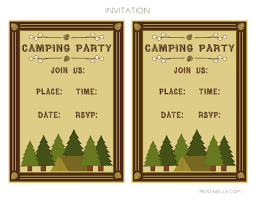 free camping party printables from printabelle catch my party