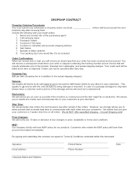 Contract Templates Free Word Templates Drop Shipping Contract Template Freewordtemplates Net