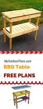 Free Diy Pool Table Plans by Best 25 Bbq Table Ideas On Pinterest Garden Table Garden Bar