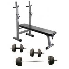 Weight Bench With Barbell Set Adjustable Weight Bench With Barbell And Dumbbell 50kg Set