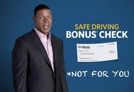 allstate commercial actress bonus check read the fine print allstate safe driving bonus checks aren t