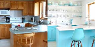 best paint for vinyl kitchen cabinets uk 13 clever kitchen makeovers kitchen renovation ideas