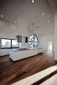 kitchen in a clock tower apartment by minimal in new york city