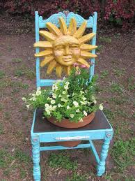 Garden Bench With Trellis 15 Upcycled Chairs Transformed Into Unique Garden Planters
