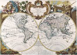 Vintage Maps Antique Maps Of The Worlddouble Hemisphere Mapgeorge Louis Le