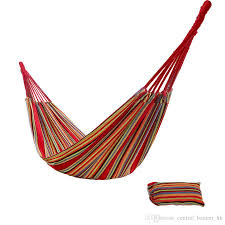dhl cotton camping hanging hammock durable woven knot outdoor