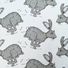 Nursery Curtain Fabric by Grey Hare Fabric Upholstery Fabric Curtain Fabric Woodland
