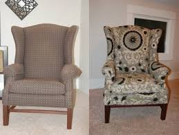 Recover Chair How To Reupholster A Wingback Chair Diy Project Aholic
