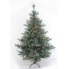 realistic christmas trees 210cm pre lit realistic blue christmas tree pe and pvc mixed with
