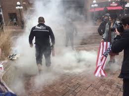 American Flag Burning Fedex Driver Stops Leftist Punks From Burning American Flags