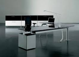 modern glass work desk the stylish modern glass desk with regard to property ideas work and